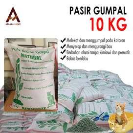 Pasir kucing gumpalan natural  10kg