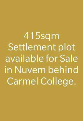 415sqm Settlement plot for Sale nuvem