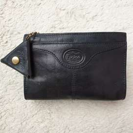 Dompet import eks FIRINA pouch kecil kulit asli tebal kokoh hitam