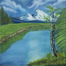 Handmade Oil Paintings Of Nature For Home Office Decoration
