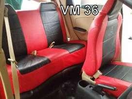 Cover jok Honda brio kombinasi dua warna ciamix