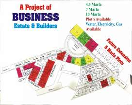 5 Marla plot for sale in Gulraiz.