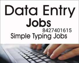 Easy home based job data typing work