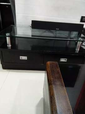 TV wall unit and center table