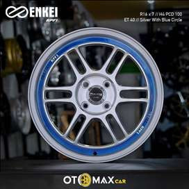 Velg Mobil Enkei RPF1 Ring 16 Silver With Blue Circle