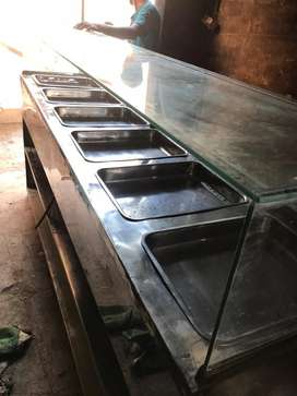 Salan counter in big size 6 dishes