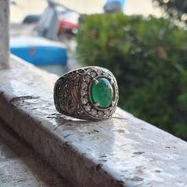 Zamrud ring perak