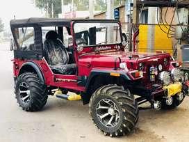 Open stylish convertible jeep