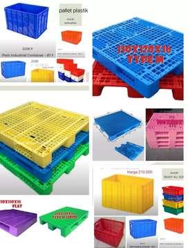 Jual pallet plastik bok polygen baru dan second.