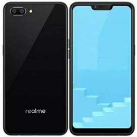 Realme C1 mirror black brand new phone with all accessories and bill