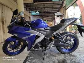 Yamaha R25 Blue Movistar 2016 Knalpot Prospeed KM 6000 an mulus