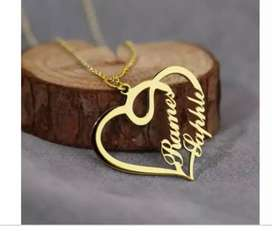 Gold plated name locket