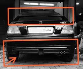 Honda city type 2 back bumper skirting