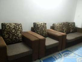 Brown and Black 3+2sofa