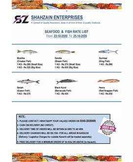 Seafood and Fish Supplier Karachi