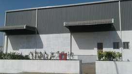 Warehouse, godown, industrial factory shed with
