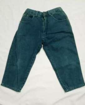 Celana jeans Anak Unisex ZORRO CLUB Pinggang karet Untuk 4-6 tahun