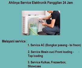 Jagonya servis Ac tidak dingin,Mesin cuci 2tabung Kulkas tidak dingin