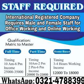 Required staff for online working.