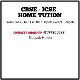 Home Tution Teacher For Icse & Cbse Students .