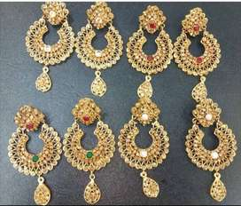 Casting and gold plated jewellry.