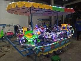 pabrik mainan odong kereta panggung AR pancingan air fiber
