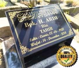 Batu Nisan Laser Bengkulu Marmer Granit Bayar COD Garansi 10 Tahun