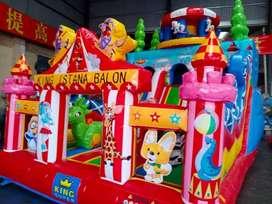 OKT wahana rumah balon istana balon odong 2 pancingan elektrik