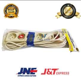 STOP KONTAK / kabel roll 5 lubang, 3 Meter kabel