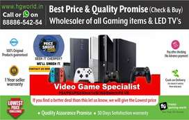 Gaming Consoles PS4, PS3, PS2, XBOX, Nintendo & LED TVs Wholesale rate