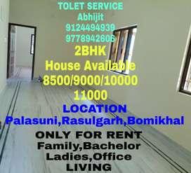 2BHK OR 3BHK Available(9000/10000/11000/12000/13000)Near Bomikhal Area