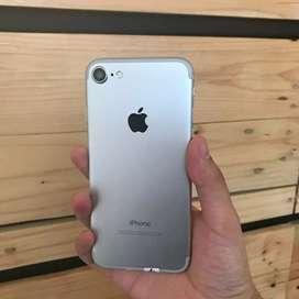 iPhone 7 128GB Silver Ex Inter Fullset Free Kabel Ori