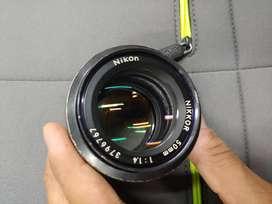 Nikon AI 50mm f1.4 Prime Lens Manual Vintage Nikkor portrait sony Fuji