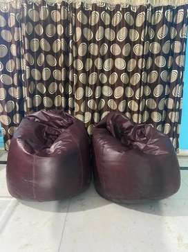 Two beautiful bean bags
