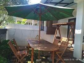 Meja Payung Kursi Taman Jati