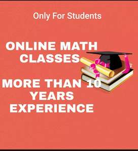 Maths online class Only For Students