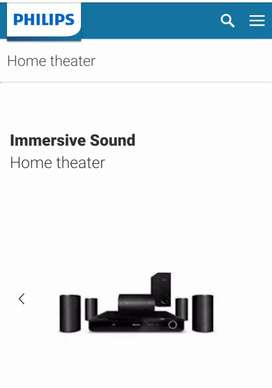New phylips home theater
