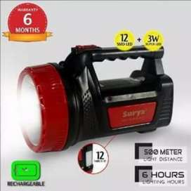 Lampu Senter SURYA SHT L3W 12LED Emergency 2IN1 Jarak 500m