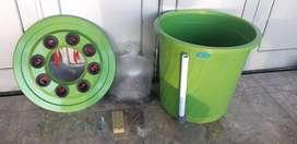 Budidaya lele dan sayur dalam ember
