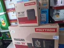 Ready stock tanpa indent - LED tv polytron plus sound bar 40 ba