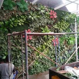 Tukang taman vertikal garden sintetis atau pohon plastik Tuk rmh kntr
