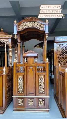 Mimbar kayu jati 311 Masjid/mushola