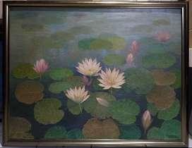 Lukisan Bunga Bangsaku Karya Original Maestro Raden Tohny Joesoef 1989