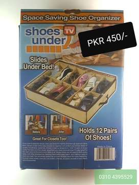 New 12 Shoes Closet Organizer Under Bed Storage