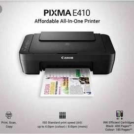 Printer Canon PIXMA E410 All In One [Print Scan Copy]