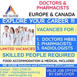 WORK VISA available for Canada & Europe - MBBS & Pharm-D Professionals
