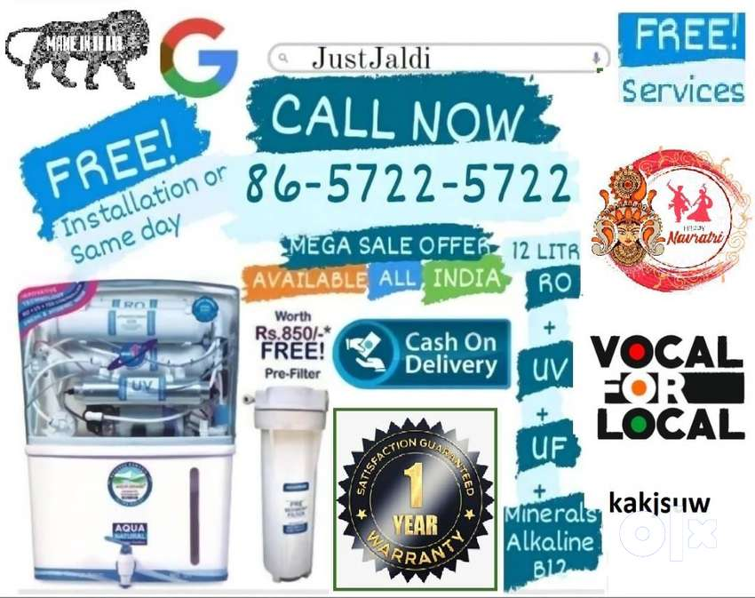 kakjsuw RO water filter DTH water purifier tv water tank  FREE DELIVER
