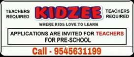 FEMALE TEACHERS REQUIRED FOR KIDZEE PRESCHOOL.
