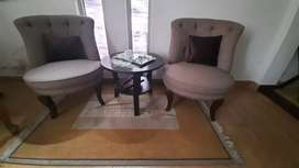 Two Sofa Chairs with Coffee table