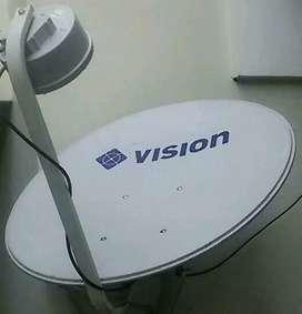 Parabola mini Indovision Mnc Vision resmi 800rb free Instalasi